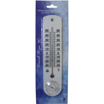 Термогигрометр универсальный Стеклоприбор ТГК-1 от -30 до +50°C (термометр универсальный с гигрометром) Серия Качество жизни