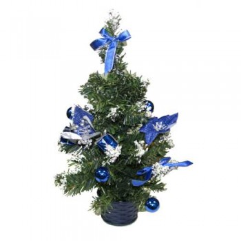 Ель IRIT декоративная ING-009A 30см (синие украшения)