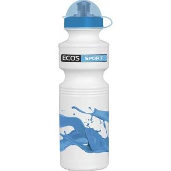 Ecos Фляга велосипедная H29-SH305A синяя волна 750мл