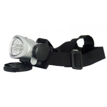 Фонарь налобный (LED-8) светодиодный пластмассовый