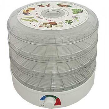 Сушилка для овощей и фруктов Ветерок (электросушилка 3 прозрачных поддона, цветная упаковка)