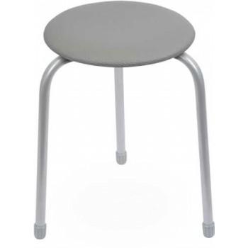 Табурет Ника Классика ТК01 (серый) на 3-х опорах, сиденье круглое 310мм, фанера, винилискожа