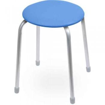 Табурет Ника Классика ТК02 (синий) на 4-х опорах, сиденье круглое 320мм, фанера, винилискожа
