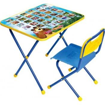 Комплект детской мебели Ника КП/1 (для 1-3 лет) тема Маша и Медведь.Азбука-1