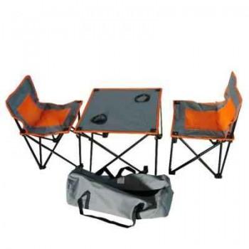 Набор туристический Irit IRG-520 (стол 450х450мм+2 стула) в сумке