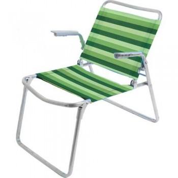 Кресло-шезлонг складное Ника К1 Цвет - Зелёный