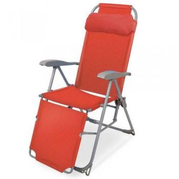 Кресло-шезлонг складное Ника К3 Цвет - Гранатовый