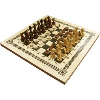 Игра Два в одном С11 (шахматы, шашки, материал - дерево) г.Орлов