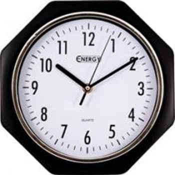 Часы настенные кварцевые Energy EC-06 восьмиугольные (24.5*5.4 см) белый циферблат (009306)
