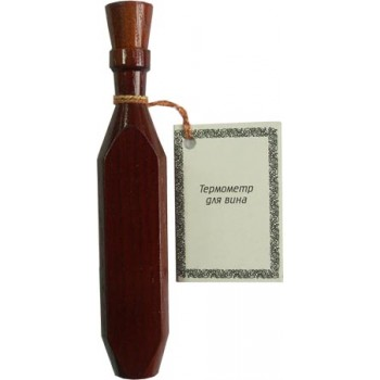 Термометр для вина Стеклоприбор ТБ-3-М1 исп.16 (деревянный футляр, диапазон от 0 до +40 гр.С)