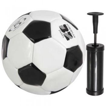 Мяч футбольный и насос BL-2001 (№5, 2 цвет., машин. строчка, ПВХ) 998102