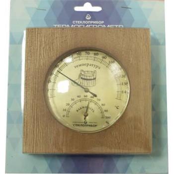 Термогигрометр для сауны Стеклоприбор ТГС-6 (термометр от 0 до +140°C, гигрометр от 0 до 100%)