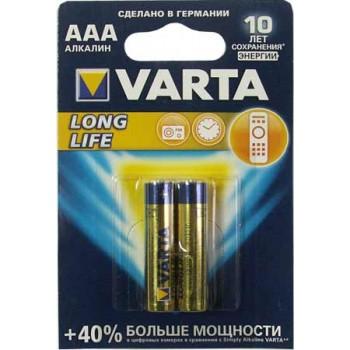 Батарейка Varta Longlife (AAA) LR03-BL2/1.5V (2 шт. в уп.)