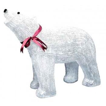 Фигура с подсветкой-белый медведь средний