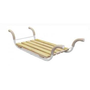 Сиденье в ванну Ника СВ1 Эконом (4-х реечное съемное, металл.каркас)
