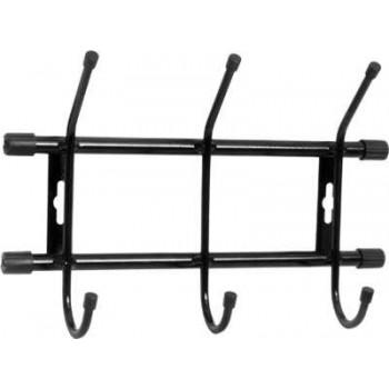 Вешалка настенная Ника ВН3, цвет черный