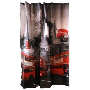 Занавеска для ванной Curtain-Bus Лондонский автобус полиэстер (180*180см), 12 крючков в комплекте 000879