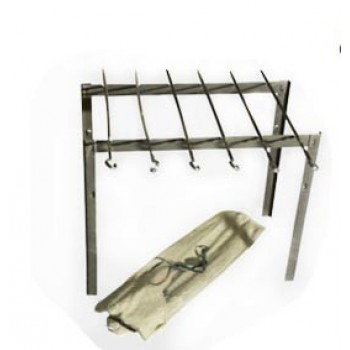 Набор для приготовления шашлыка Амет Походный 1с799 в чехле (минимангал + 6 шампуров 450мм)