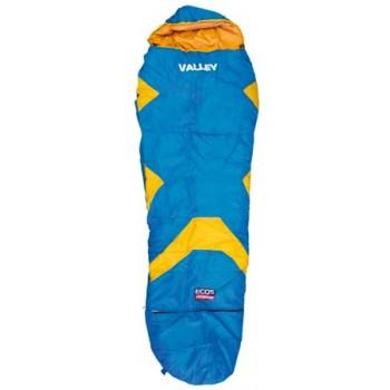 Спальник туристический Ecos детский Valley 150-170х65х45см (998175) (мешок спальный), синий с оранжевым
