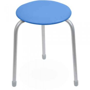 Табурет Ника Классика ТК01 (синий) на 3-х опорах, сиденье круглое 310мм, фанера, винилискожа