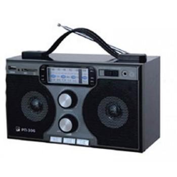 Радиоприёмник БЗРП Сигнал РП-306 УКВ/СВ/КВ + МР3 плеер, сеть/R20*4, разъем SD/USB, 2 динамика, стереозвук