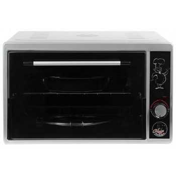 Духовка электрическая Чудо пекарь ЭДБ-0121 1500ВТ, 39л, 3 режима работы, серебристый металлик