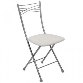 Стул складной со спинкой Ника ССН1/2 цвет сиденья - светло-серый