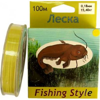 Леска Fishing Style RL2902 0.25mm тест 21.00кг 100m (плетенка желтая)