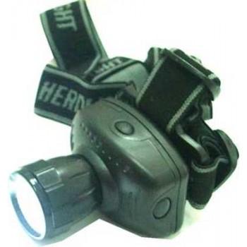 Фонарь налобный (LED-1) светодиодный пластмассовый Super