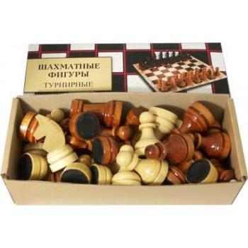 Фигуры шахматные деревянные Е-4 Турнирные лакированные