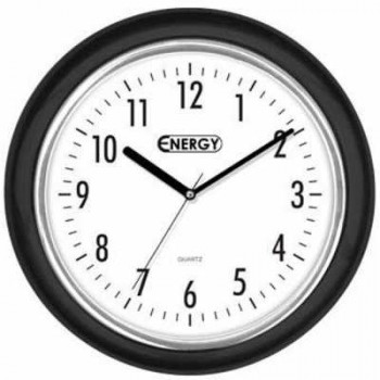 Часы настенные кварцевые Energy EC-07 круглые (24.5*4.0 см) белый циферблат (009307)