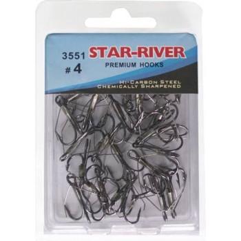 Тройник-незацепляйка STAR-RIVER 3551 #4 (в упак.30шт)