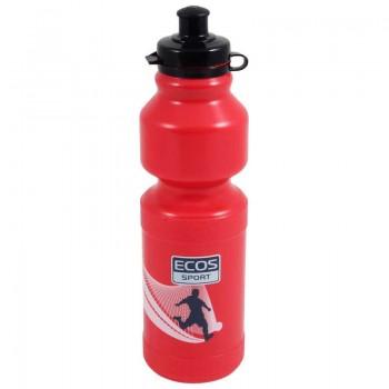 Бутылка для воды ECOS VEL-25 750мл (красная) крепится в держатель на велосипеде (000837)