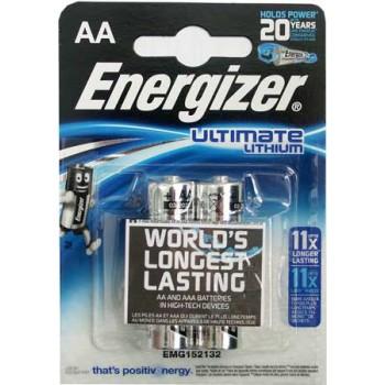 Батарейка Energizer (AA) LR06-BL2/1.5V Lithium (2 шт. в уп.)