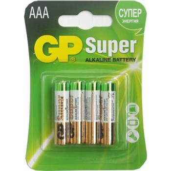 Батарейка GP Super (AAА) LR3-BL4/1.5V (4 шт.)
