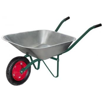 Тачка садовая WB 4307 в т/у (оцинк., 130кг, 65л., пневмат. колесо тип2 330мм) (092696)