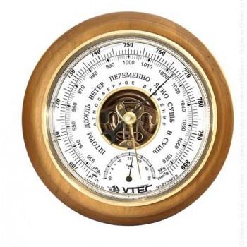 Барометр Утес БТК-СН-14 с термометром (корпус-дерево, диам.175/130мм, откр.механизм)