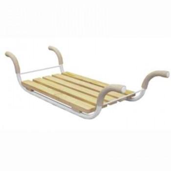 Сиденье в ванну СВ2 Классик (5-ти реечное закрепленное, металл.каркас)