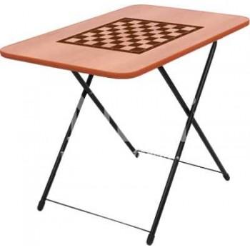 Стол туристический Турист игровой ТСТИ складной с шахматной сеткой 750х500мм (ЛДСП)