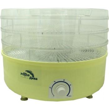 Сушилка для овощей и фруктов Ротор Дива СШ-007-01 (гофра, 3 прозрачных поддона)