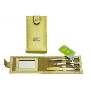 Маникюрный набор Миг МН 0302М 3 предмета золотистый футляр