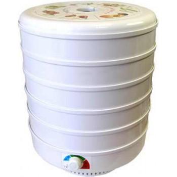 Сушилка для овощей и фруктов Ветерок (электросушилка 5 белых поддонов, цветная упаковка)