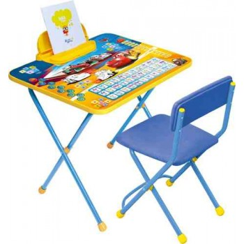 Комплект Ника Disney 2 Д2Т (для 3-7 лет) тема Тачки (складные стол+стул)