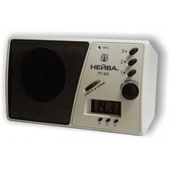 Приемник трехпрограммный Нейва ПТ-322 сеть 30В, часы-таймер