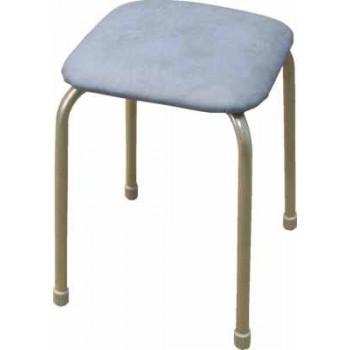 Табурет Ника Классика ТК03 (голубой) на 4-х опорах, сиденье квадрат 320х320мм, фанера, винилискожа