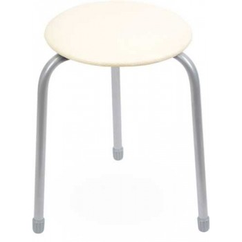 Табурет Ника Классика ТК01 (слоновая кость) на 3-х опорах, сиденье круглое 310мм, фанера, винилискожа