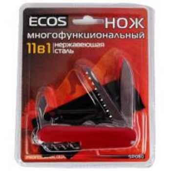 Нож складной многофункциональный Ecos SR080 11 в 1, 17.5см, нержавеющая сталь, блистер (325113)
