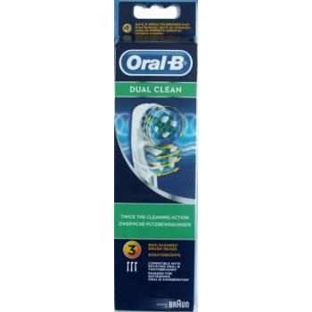 EB417-3 Dual Clean - насадка для зубной щетки (3 шт.) (849667)
