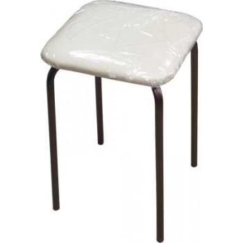 Табурет на 4-х опорах (Рязань), сиденье квадрат 300х300мм, фанера, винилискожа