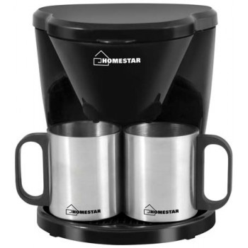 Кофеварка Homestar HS-2010 450Вт (на 2 чашки) черная